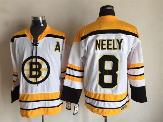 NHL Boston Bruins 8 Cam Neely 1971-1972 Thowback White CCM Vintage