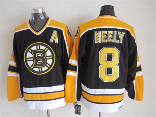 NHL Boston Bruins 8 NEELY Black Throwback Jersey