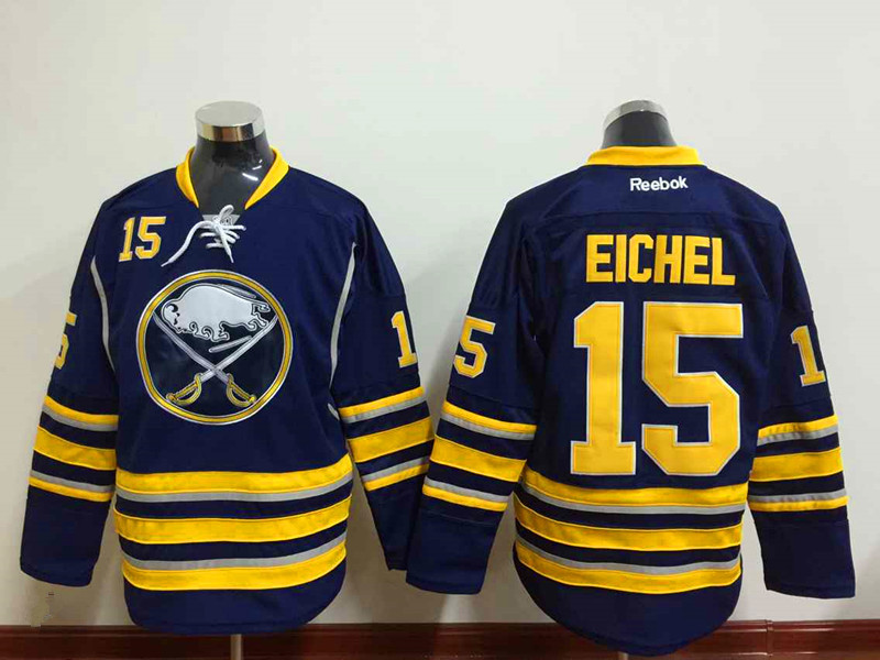NHL Buffalo Sabres 15 Jack Eichel Blue 2015 Jerseys