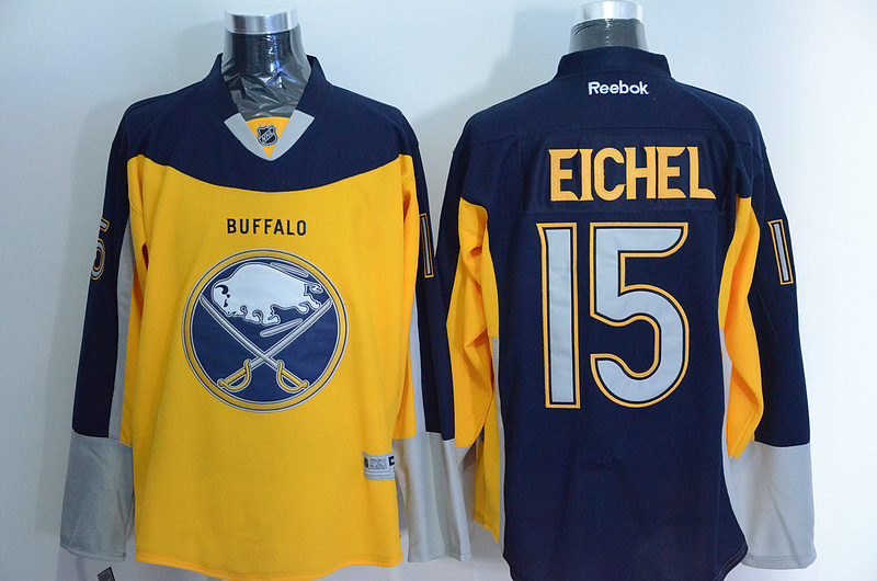 NHL Buffalo Sabres 15 eichel yellow blue New 2015 Jersey