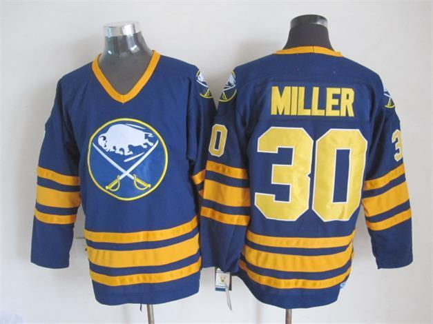 NHL Buffalo Sabres 30 Ryan Miller 2015 Blue