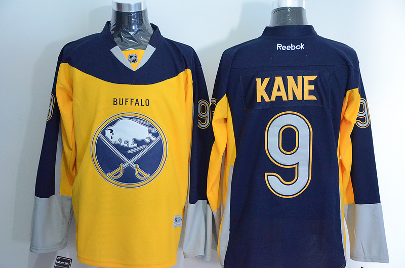 NHL Buffalo Sabres 9 kane yellow blue New 2015 Jersey