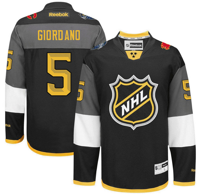 NHL Calgary Flames 5 Giordano black 2016 All Star Jersey