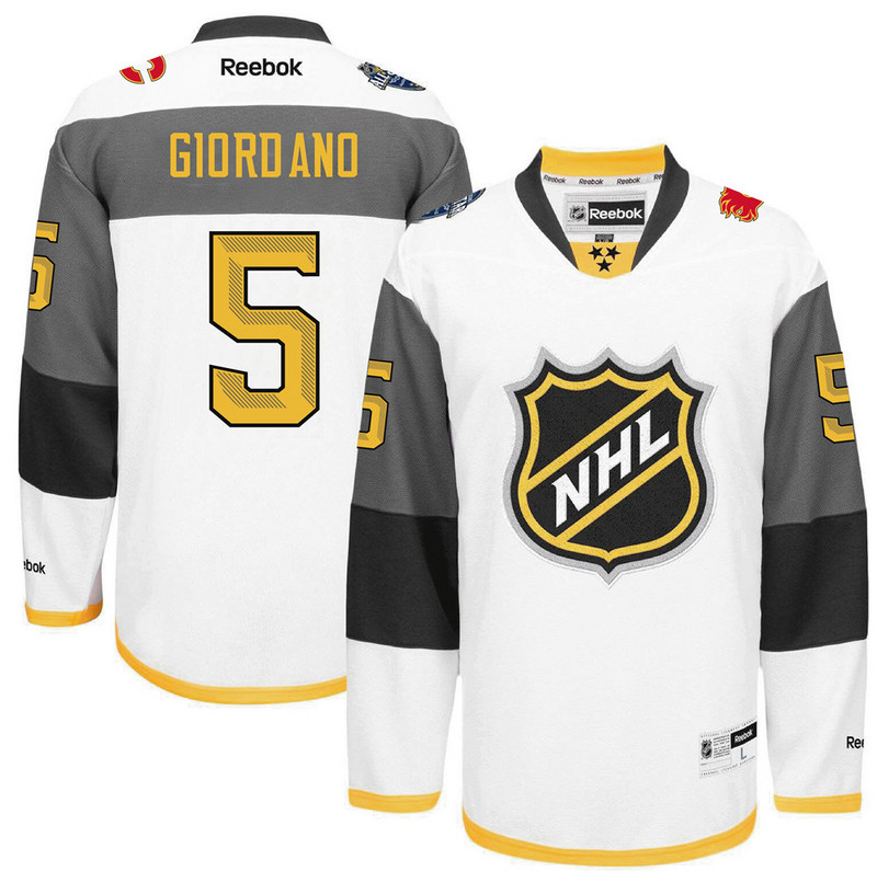 NHL Calgary Flames 5 Giordano white 2016 All Star Jersey
