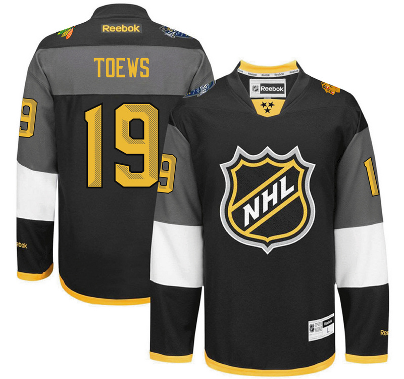 NHL Chicago Blackhawks 19 Janathan Toews black 2016 All Star Jersey