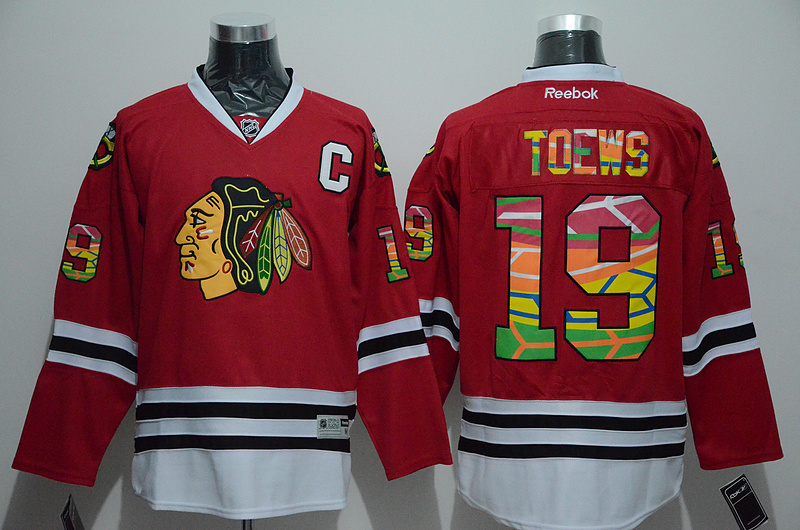 NHL Chicago Blackhawks 19 Jonathan Toews Red Printing 2015 Jerseys