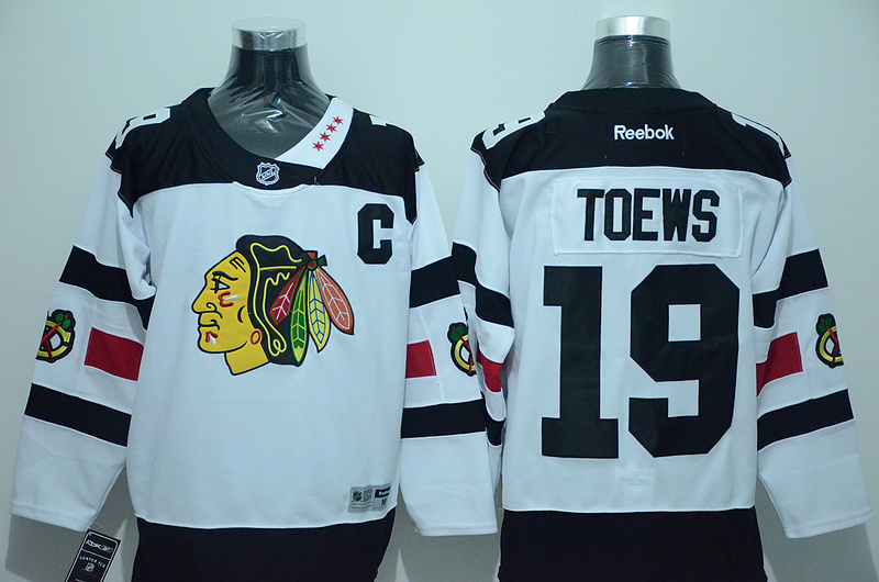 NHL Chicago Blackhawks 19 Toews White 2016 Jersey