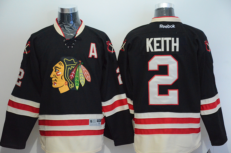 NHL Chicago Blackhawks 2 Duncan Keith Black 2015 Winter Classic