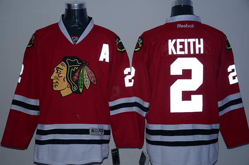 NHL Chicago Blackhawks 2 Keith red reflective Jersey