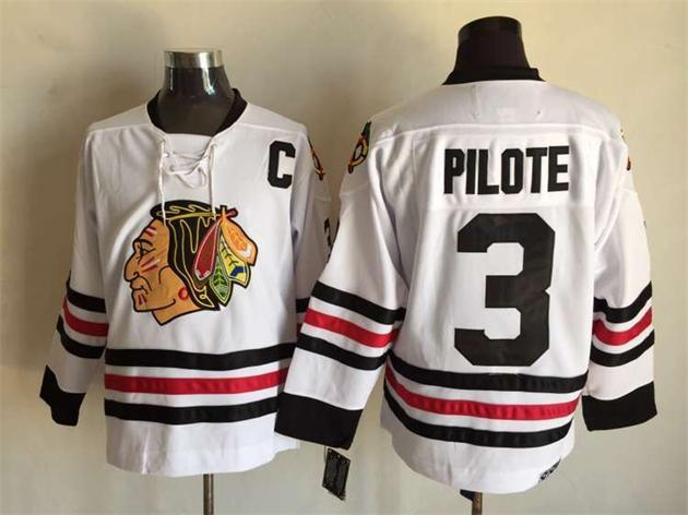 NHL Chicago Blackhawks 3 pilote white 2015 Jersey
