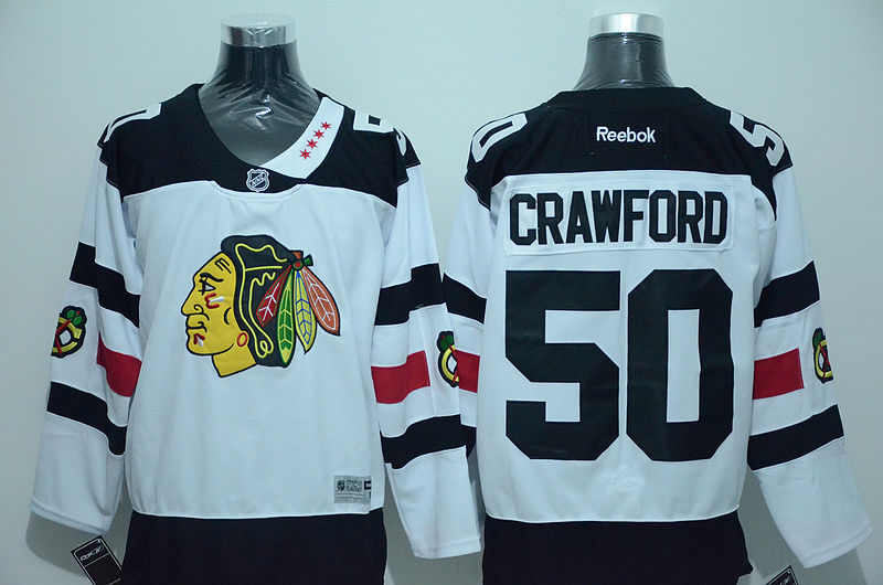 NHL Chicago Blackhawks 50 Crawford White 2016 Jersey
