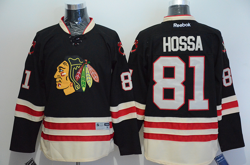 NHL Chicago Blackhawks 81 Marian Hossa Black 2015 Winter Classic