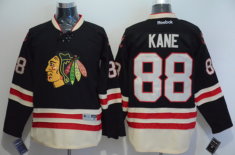 NHL Chicago Blackhawks 88 Patrick Kane Black 2015 Winter Classic