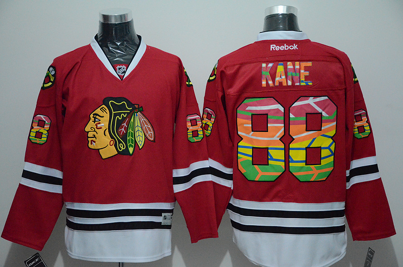 NHL Chicago Blackhawks 88 Patrick Kane Red Printing 2015 Jerseys