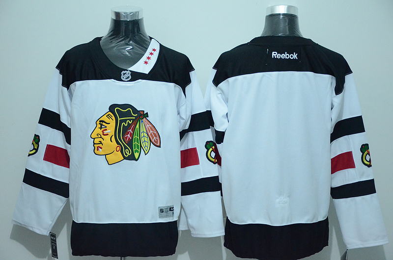 NHL Chicago Blackhawks Blank White 2016 Jersey.