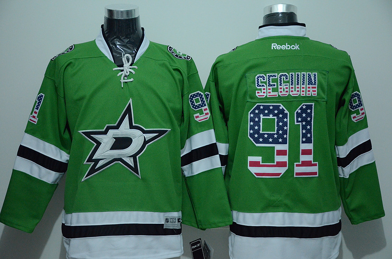 NHL Dallas Stars 91 Tyler Seguin Green 2015 National Flag Edition
