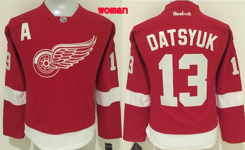 NHL Detoit Red Wings 13 Pavel Datsyuk Women Red 2016 Jersey