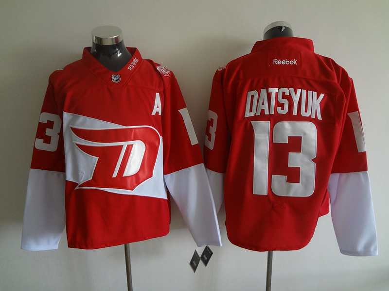 NHL Detroit Red Wings 13 Pavel Datsyuk Red 2016 Stadium Series