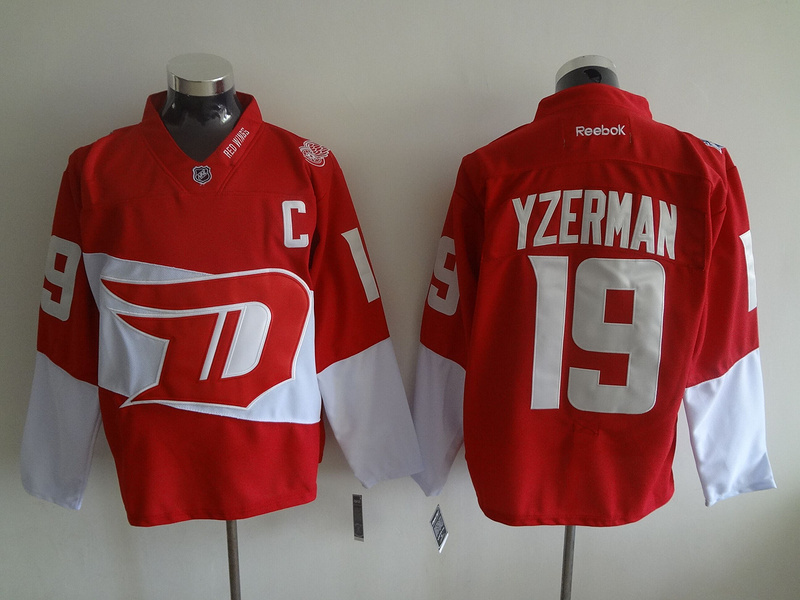 NHL Detroit Red Wings 19 Steve Yzerman Red 2016 Stadium Series
