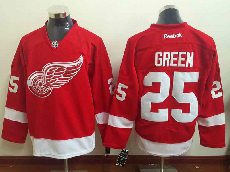 NHL Detroit Red Wings 25 GREEN red 2015 Jersey