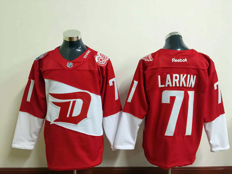 NHL Detroit Red Wings 71 Dylan Larkin Red 2016 Stadium Series