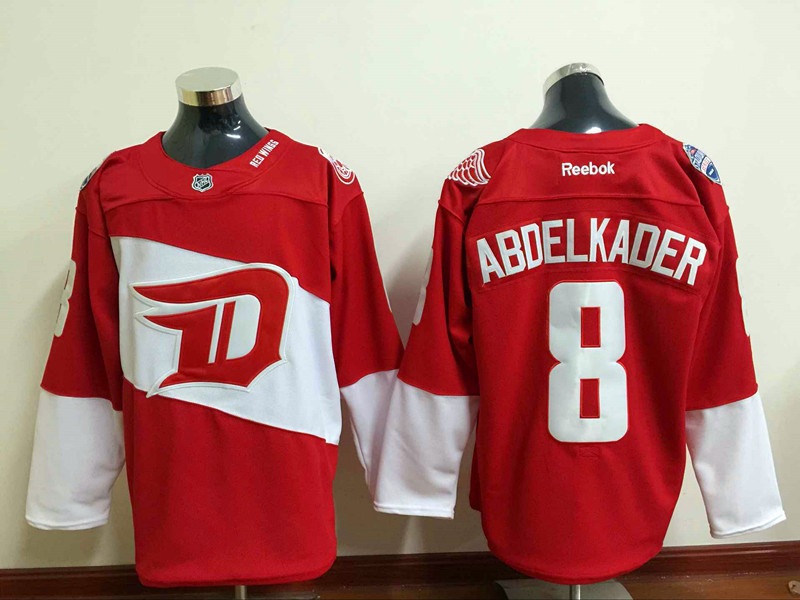 NHL Detroit Red Wings 8 Justin Abdelkader Red 2016 Stadium Series