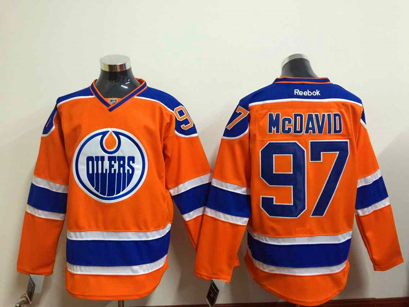 NHL Edmonton Oilers 97 Mcdavid Orange 2015 Jerseys
