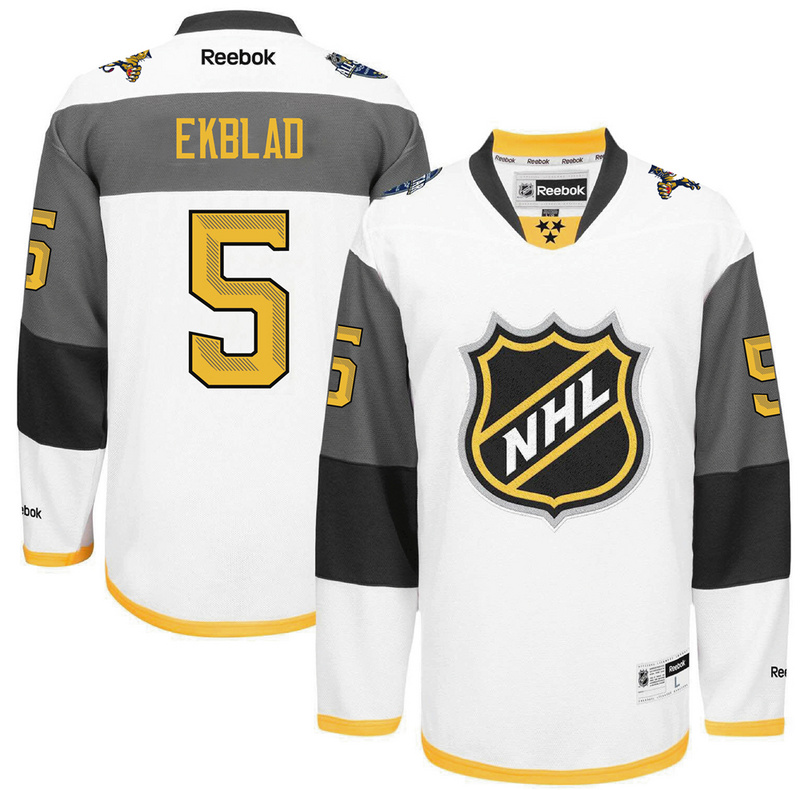 NHL Florida Panthers 5 Ekblad white 2016 All Star Jersey