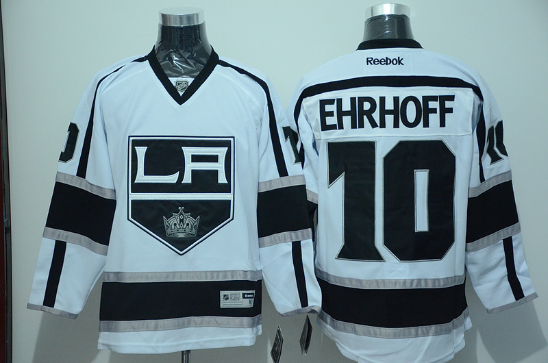 NHL Los Angeles Kings 10 Christian Ehrhoff White 2015 Jerseys