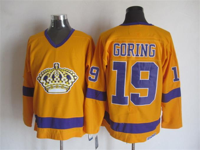 NHL Los Angeles Kings 19 BUTCH GORING Orange CCM Vintage Throwback