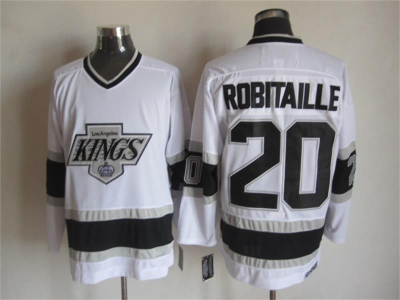 NHL Los Angeles Kings 20 Robitaille White 2015 Jerseys