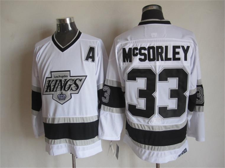 NHL Los Angeles Kings 33 Mcsorley White 2015 Jerseys