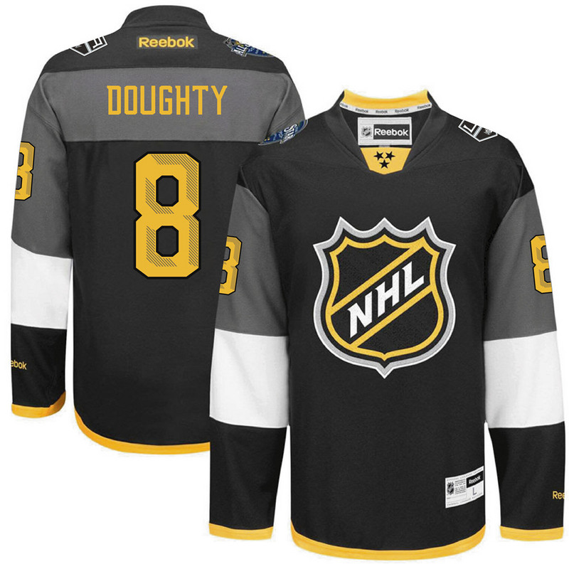 NHL Los Angeles Kings 8 Drew Doughty black 2016 All Star Jersey