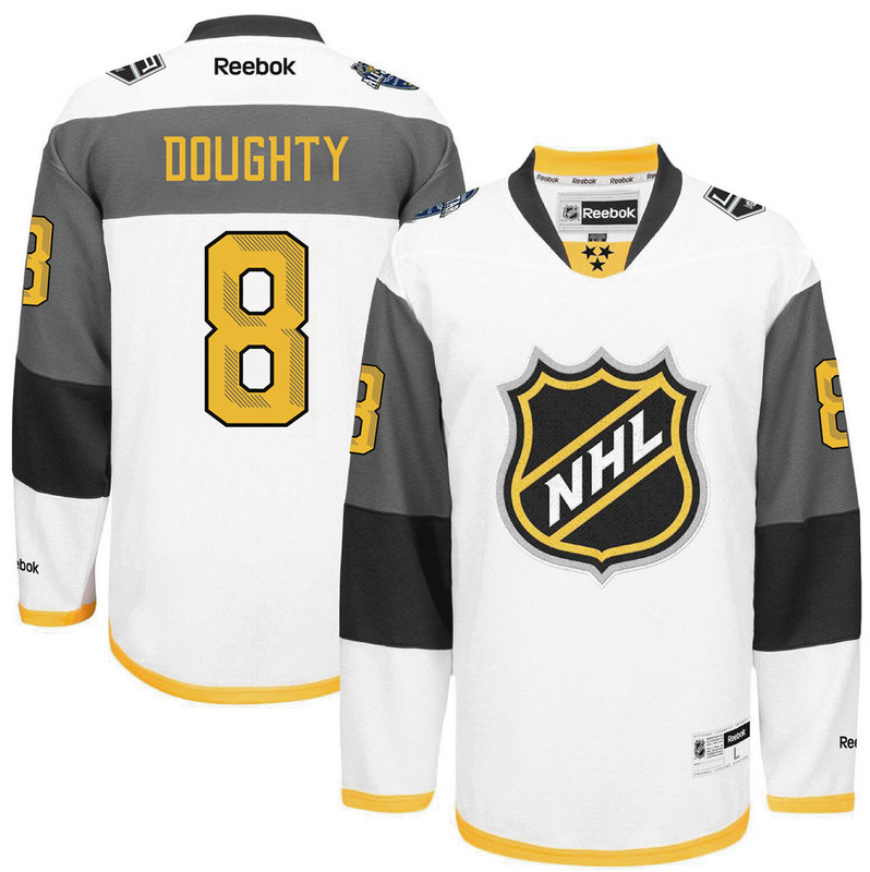 NHL Los Angeles Kings 8 Drew Doughty white 2016 All Star Jersey