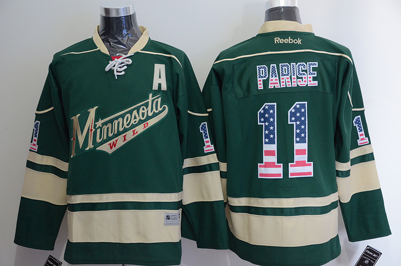 NHL Minnesota Wild 11 Zach Parise 2015 National Flag Edition