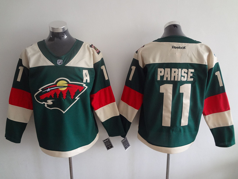 NHL Minnesota Wild 11 Zach Parise Green 2016 Stadium Series