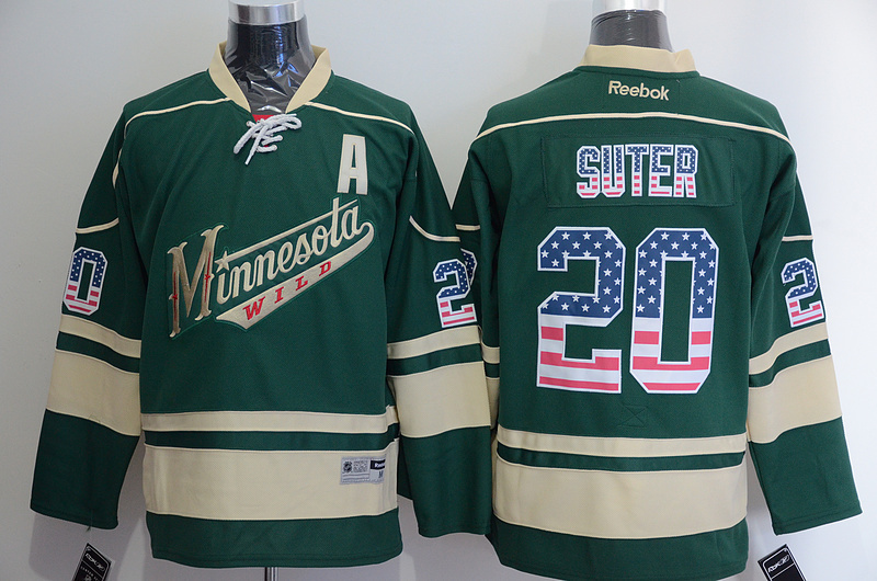 NHL Minnesota Wild 20 Ryan Suter 2015 National Flag Edition