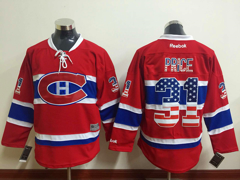 NHL Montreal Canadiens 31 price red USA Flag Fashion Jersey