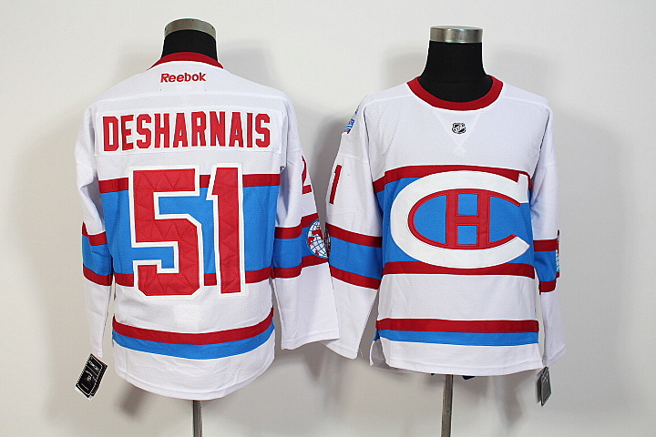 NHL Montreal Canadiens 51 Desharnais 2016 Winter Classic Premier Jersey