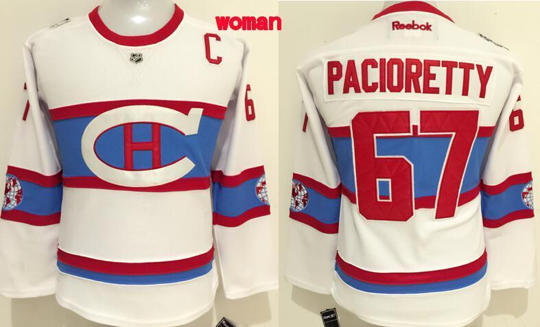 NHL Montreal Canadiens 67 Pacioretty White Women 2016 Jerseys