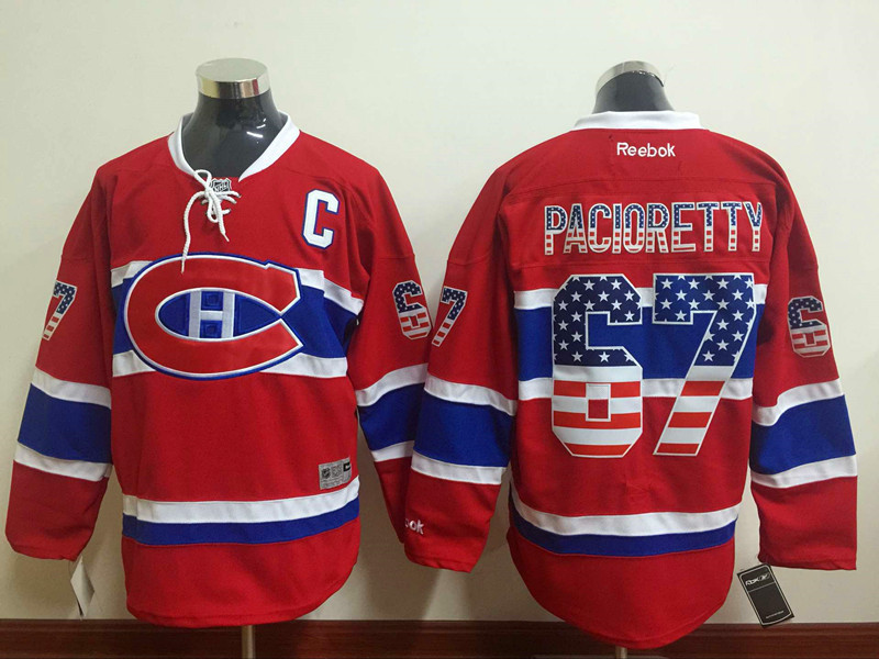 NHL Montreal Canadiens 67 pacioretty red USA Flag Fashion Jersey
