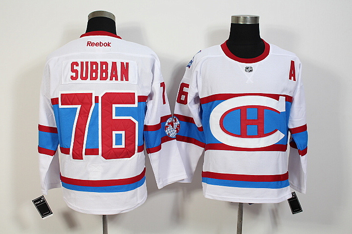 NHL Montreal Canadiens 76 PK Subban 2016 Winter Classic Premier Jersey