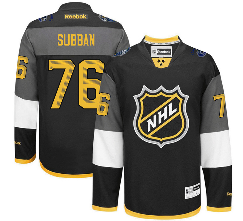 NHL Montreal Canadiens 76 Subban black 2016 All Star Jersey