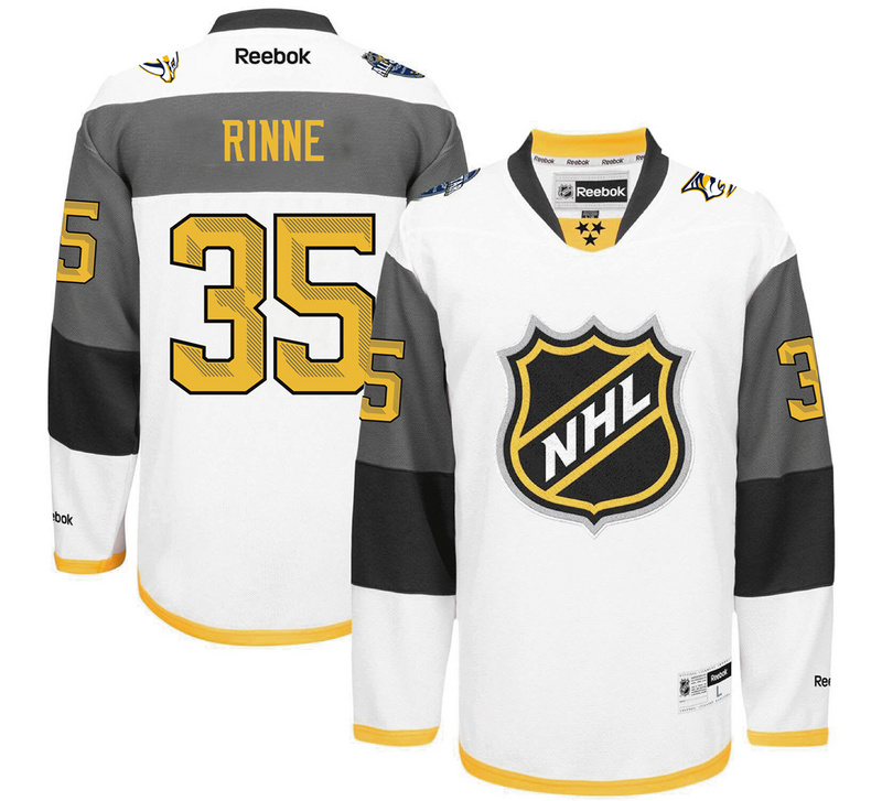 NHL Nashville Predators 35 Rinne white 2016 All Star Jersey