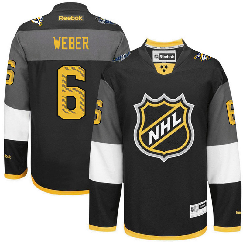 NHL Nashville Predators 6 Shea Weber black 2016 All Star Jersey
