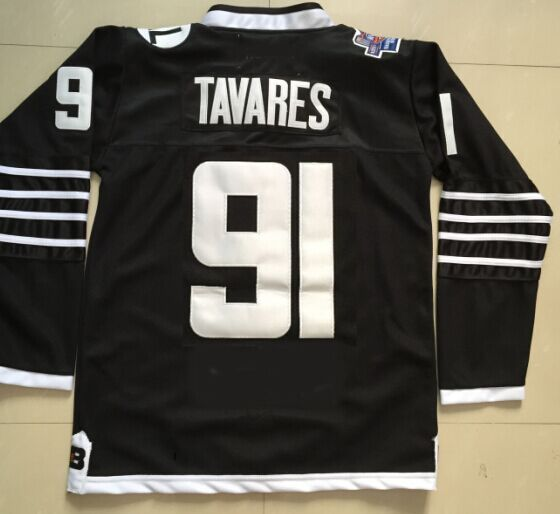 NHL New York Islanders 91 John Tavares Black 2015 Jerseys