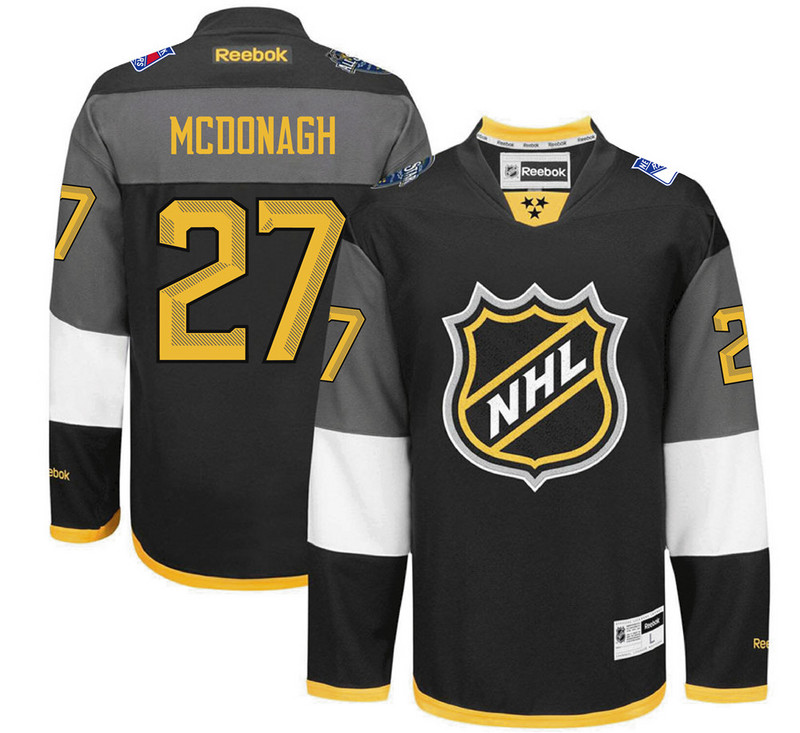 NHL New York Rangers 27 Mcdonagh black 2016 All Star Jersey