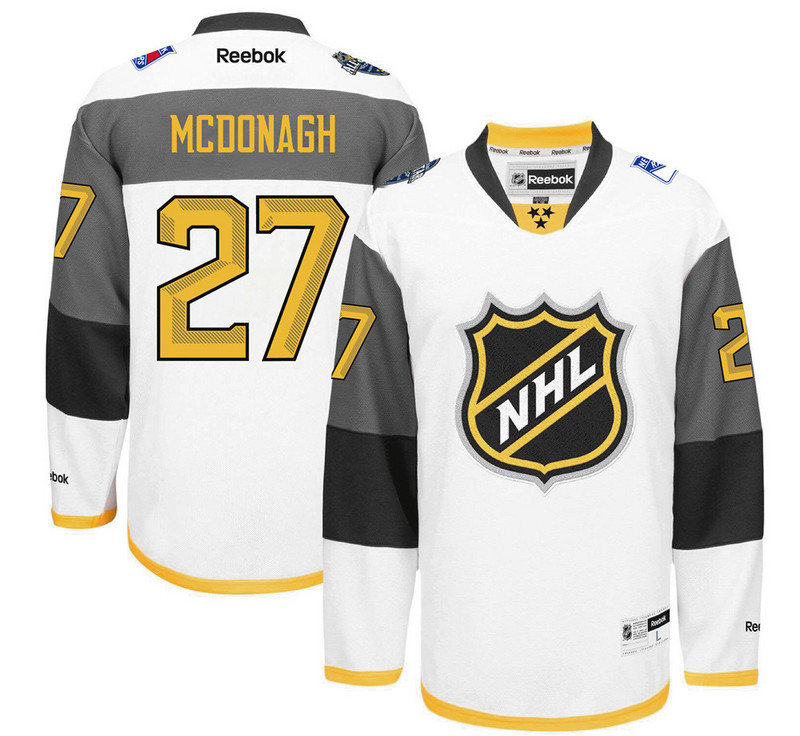 NHL New York Rangers 27 Mcdonagh white 2016 All Star Jersey