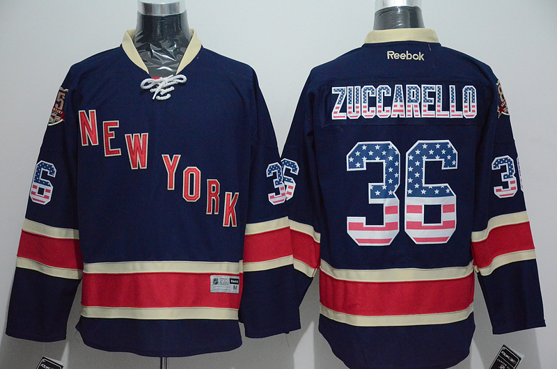 NHL New York Rangers 36 Zuccarello 2015 National Flag Edition