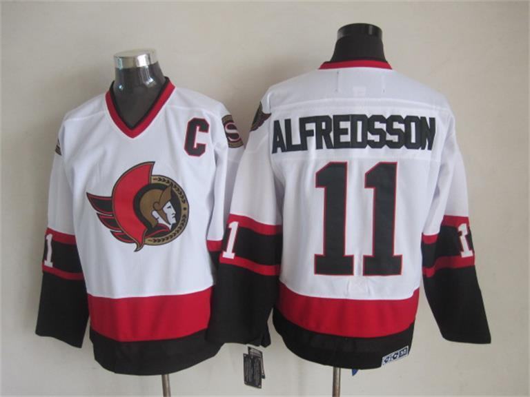 NHL Ottawa Senators 11 Alfredsson White 2015 Jerseys